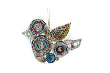 Recycled Paper Decoration – Bird