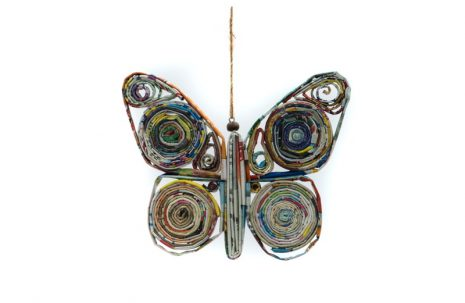 Recycled Paper Decoration – Butterfly