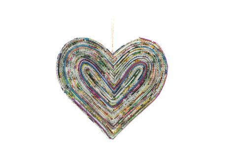 Recycled Paper Decoration – Heart