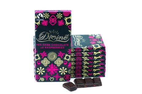 Divine Dark Chocolate with Raspberries