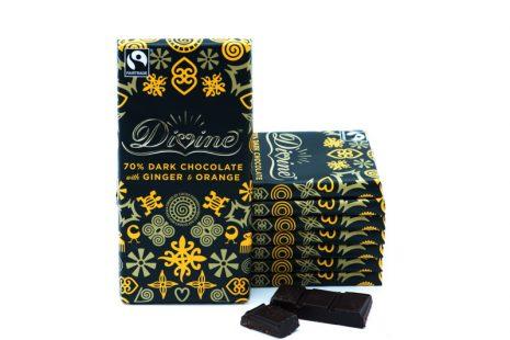 Divine Dark Chocolate with Orange and Ginger