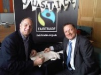Meeting Sir Steve Redgrave during Fairtrade Fortnight 2011