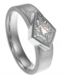 Fairtrade Satinised Diamond Ring