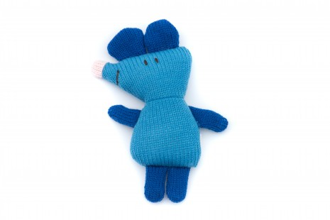Knitted Blue Mouse