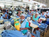 Pamela Intelligent: Seamstress at the factory in Mauritius.