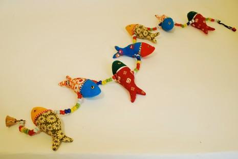 Multi Coloured Fish String Mobile