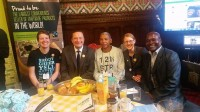 With Jason McCartney MP, Julio (banana farmer from Columbia), Holly Lynch MP and Patrick (tea farmer from Kenya)