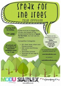 Speak for The Trees flyer side 1