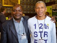 Julio (right) with Patrick Kaberia at Fairtrade APPG launch. Credit: Fairtrade Foundation