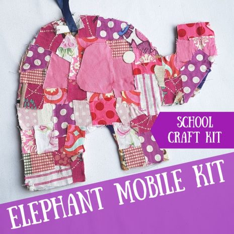 Elephant Mobile Craft Kit for Schools