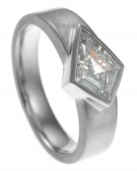 Fairtrade Satinised Diamond Ring