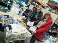 fairandfunky donate a trolley load of rice to Huddersfield Welcome Centre
