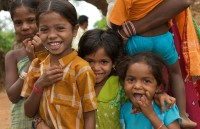 Children in the village of Malli Vilsa_5558