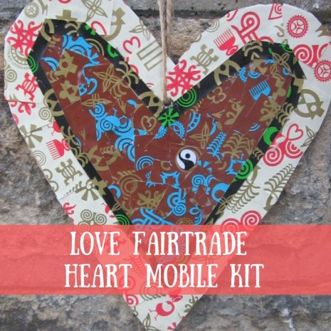 Love Fairtrade Heart Mobile Craft Kit