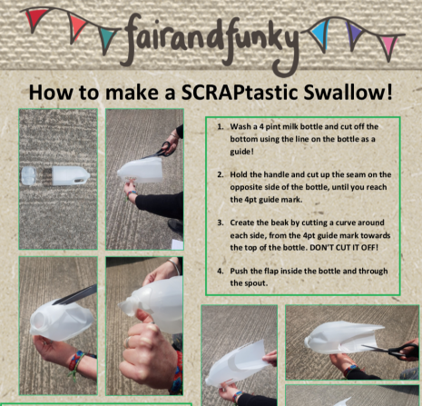 How to make a SCRAPtastic swallow!