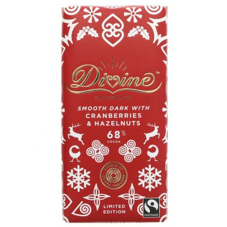 Divine Dark Chocolate with Cranberries and Hazelnuts