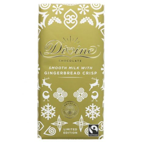 Divine Milk Chocolate with Gingerbread Crisp