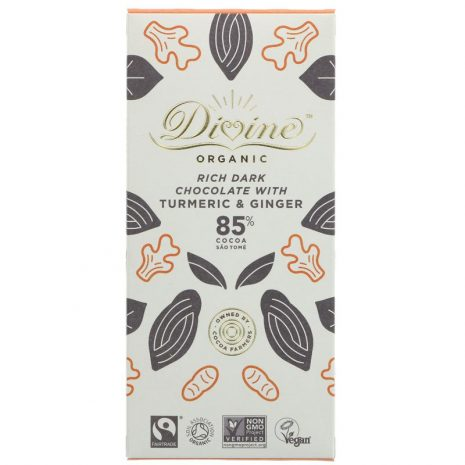 Divine Organic Dark Chocolate with Turmeric and Ginger