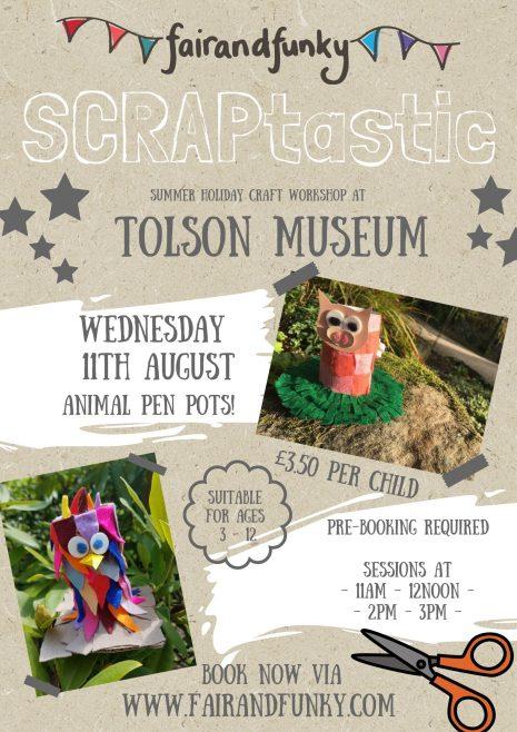 SCRAPtastic Workshop – Tolson Museum – 11th August