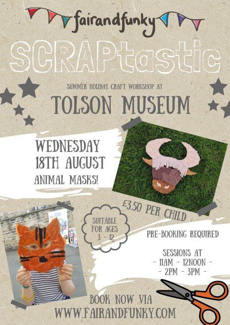 SCRAPtastic Workshop – Tolson Museum – 18th August