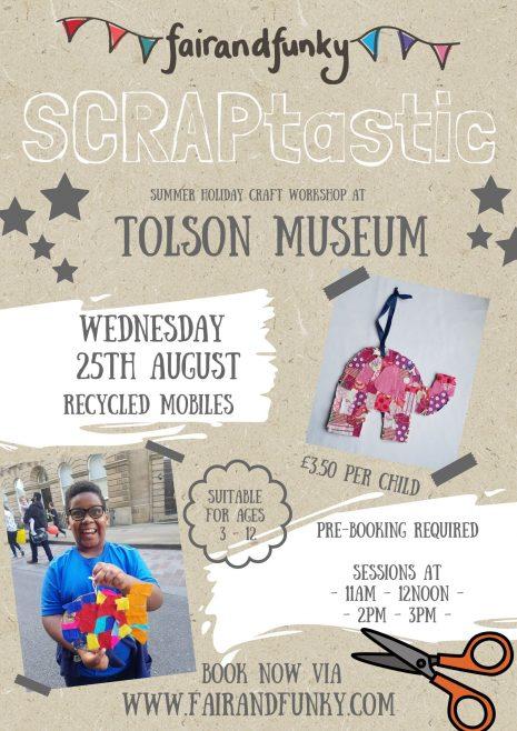 SCRAPtastic Workshop – Tolson Museum – 25th August